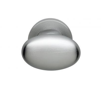 Deurkruk Oval MAT CHROOM