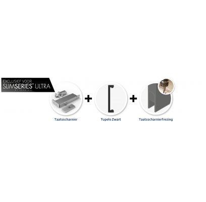 Hang- en sluitwerkpakket 602 MAT ZWART