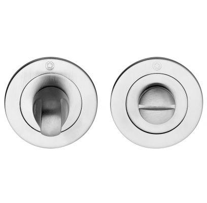 Toiletgarnituur Ultra slim rond MAT CHROOM