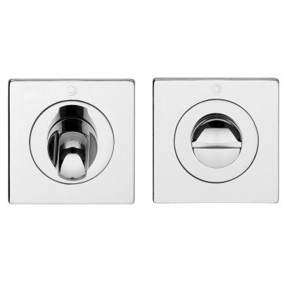 Toiletgarnituur Ultra slim vierkant CHROOM