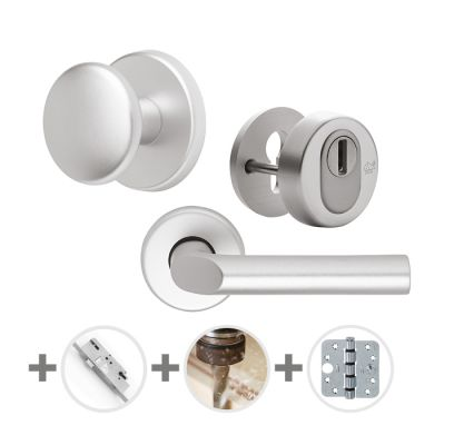 Hang- en sluitwerkpakket 35 sleutelbediend 201/211 R4 ALUMINIUM