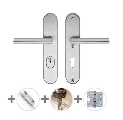 Hang- en sluitwerkpakket 40 sleutelbediend 231 L3 RVS