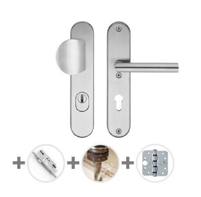Hang- en sluitwerkpakket 41 sleutelbediend 201/211 R4 RVS