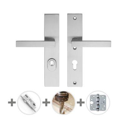 Hang- en sluitwerkpakket 43 sleutelbediend 201/211 R2 RVS