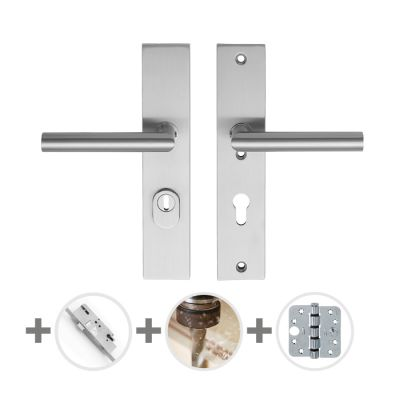 Hang- en sluitwerkpakket 44 sleutelbediend 231 R4 RVS