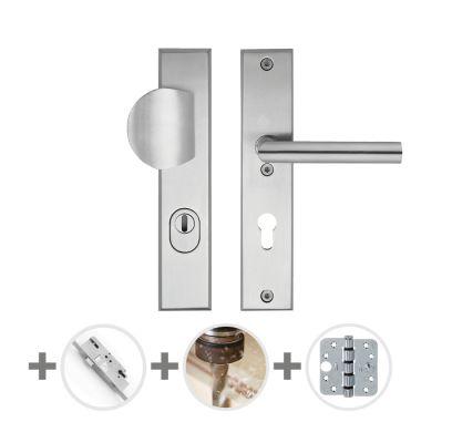 Hang- en sluitwerkpakket 46 sleutelbediend 201/211 R4 RVS