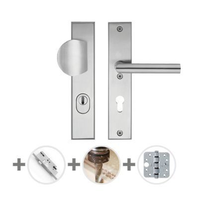 Hang- en sluitwerkpakket 46 sleutelbediend 231 R2 RVS