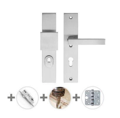 Hang- en sluitwerkpakket 47 sleutelbediend 231 R2 RVS