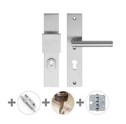 Hang- en sluitwerkpakket 48 sleutelbediend 201/211 R4 RVS