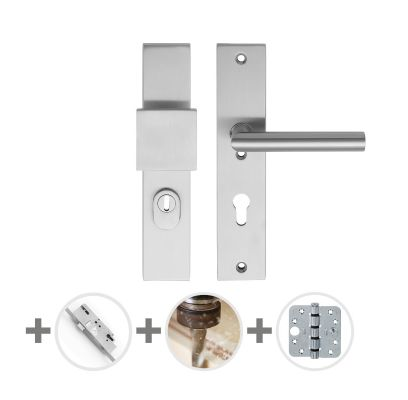 Hang- en sluitwerkpakket 48 sleutelbediend 231 R2 RVS