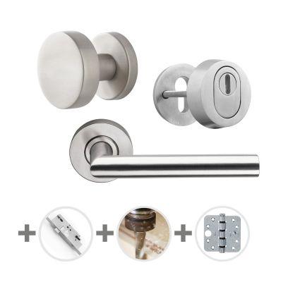 Hang- en sluitwerkpakket 53 sleutelbediend 231 R2 RVS