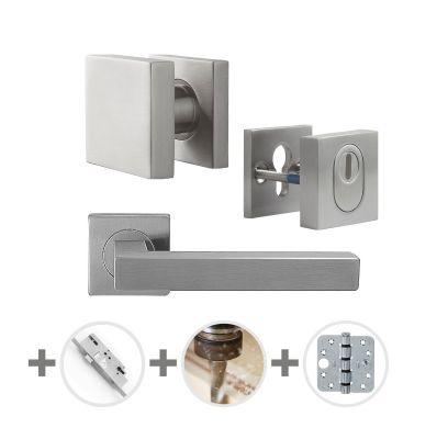 Hang- en sluitwerkpakket 54 sleutelbediend 231 R2 RVS