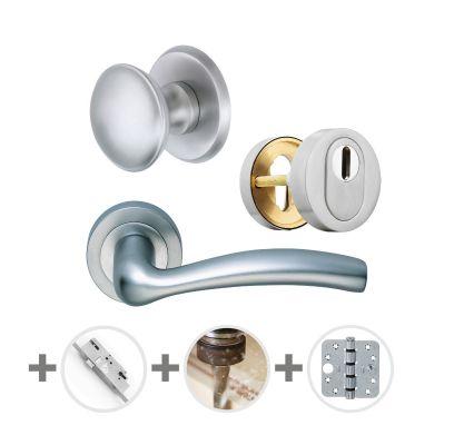 Hang- en sluitwerkpakket 65 sleutelbediend 201/211 R4 MAT CHROOM