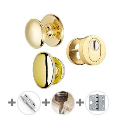 Hang- en sluitwerkpakket 76 sleutelbediend 231 R4 MESSING