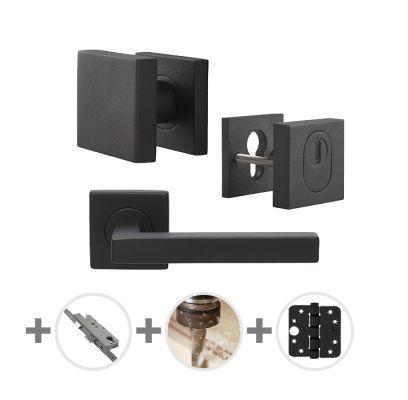 Hang- en sluitwerkpakket 94 sleutelbediend 231 R4 ZWART