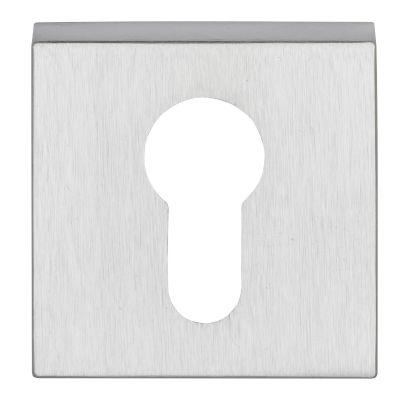 Cilinderrozet Clarke square CHROOM / MAT CHROOM