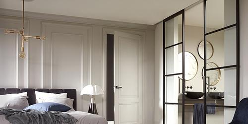 Industriële deuren met minimalistisch design ook toepasbaar als schuifdeur