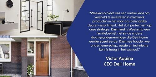 Deli Home Holding B.V. versterkt positie door voorgenomen overname Weekamp Deuren