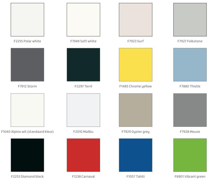 HPL kleuren